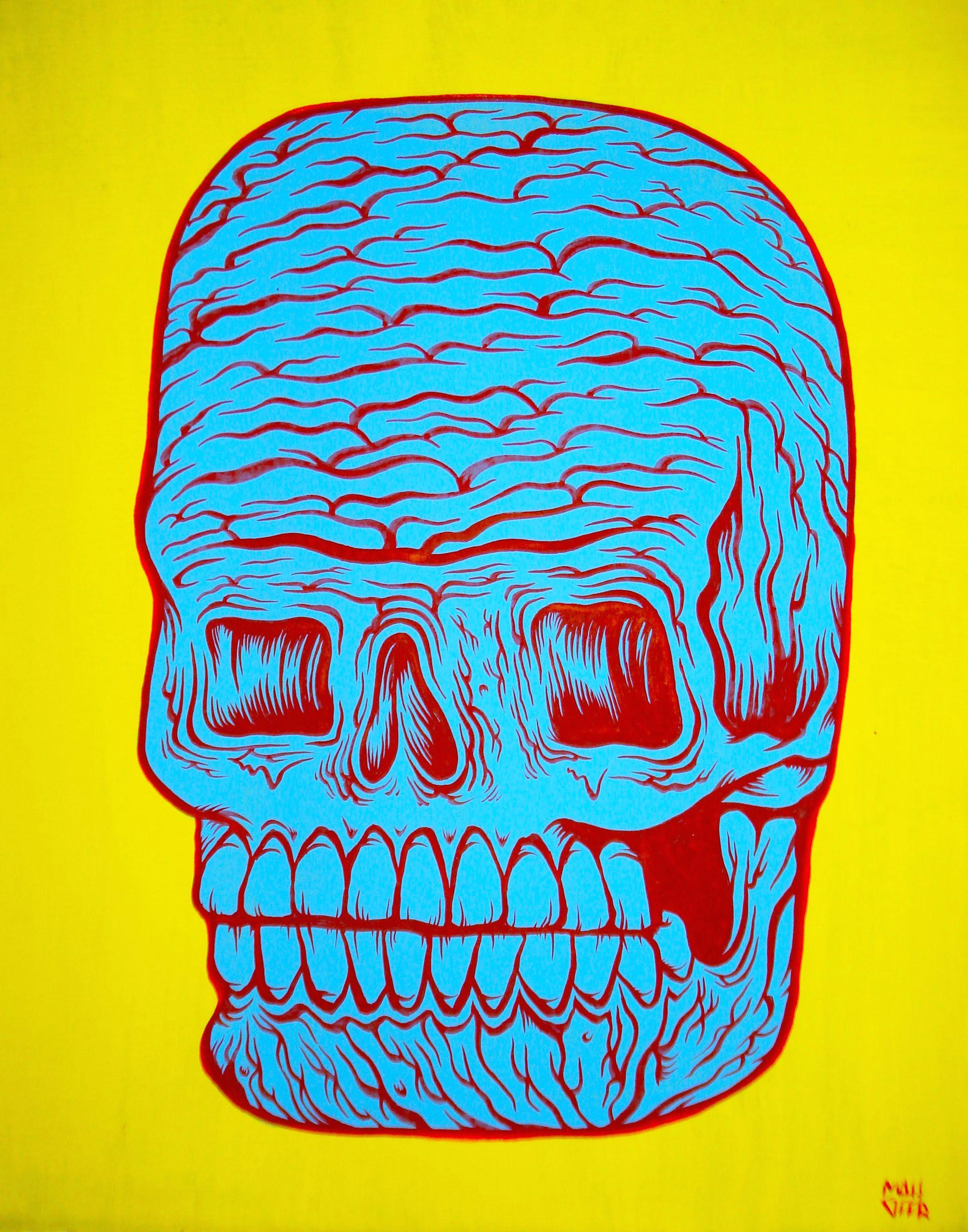 gore skull 2 matt geer horror painting