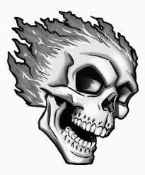drawings of flaming skulls google search
