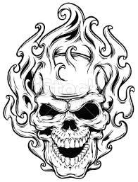 drawings of flaming skulls google search skull stencil tattoo stencils skull art