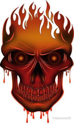 flame skull skull design skull and bones skull art chicano skull pictures