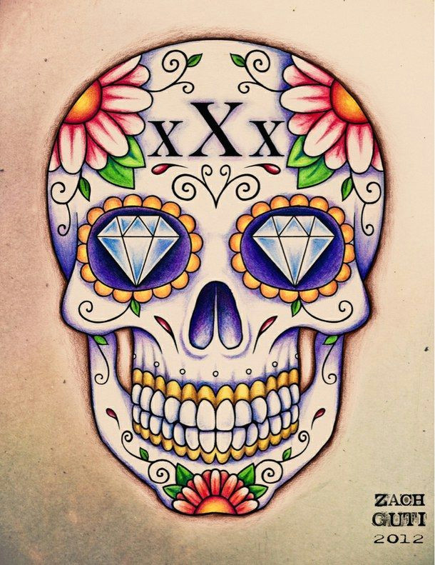 cute hipster love skulls sugar skull sugar skulls tattoo tumblr