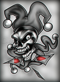 joker skull dragoart com jester tattoo clown tattoo skull tattoos