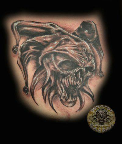 skull joker tat by 2face tattoo on deviantart