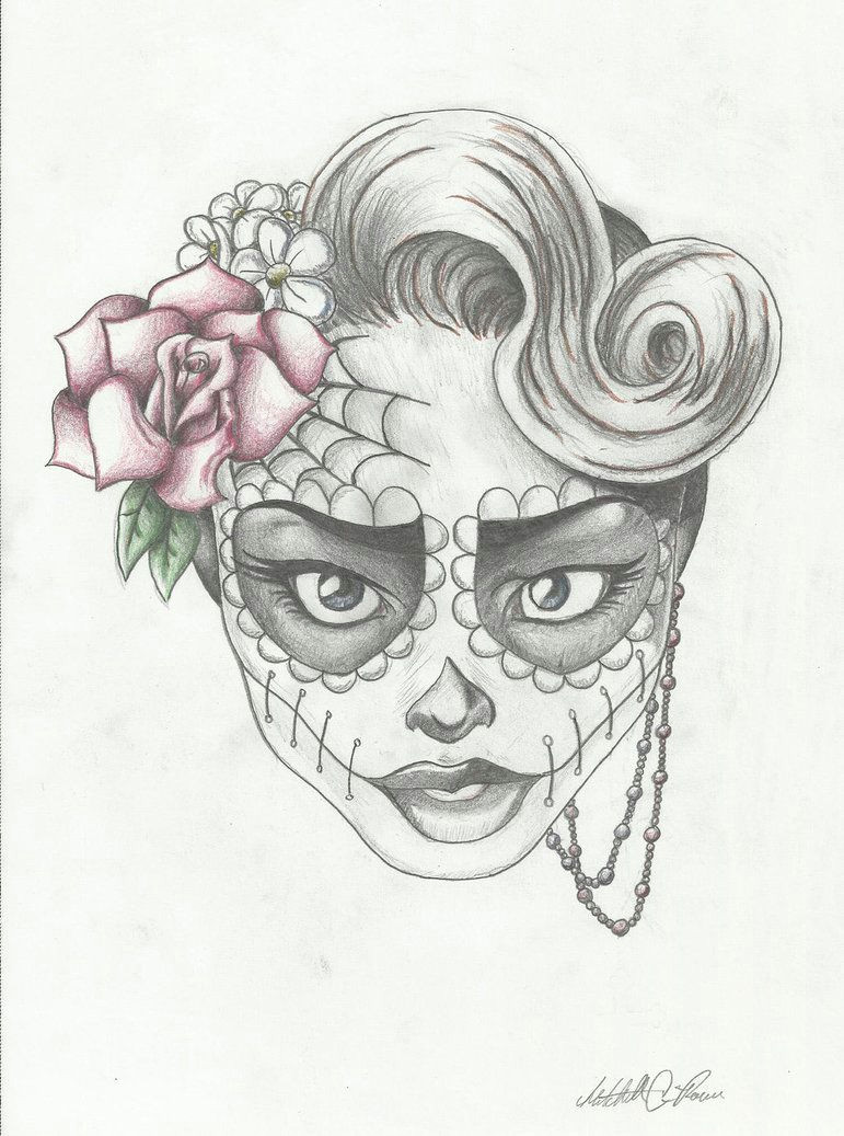 cute skull drawing google search