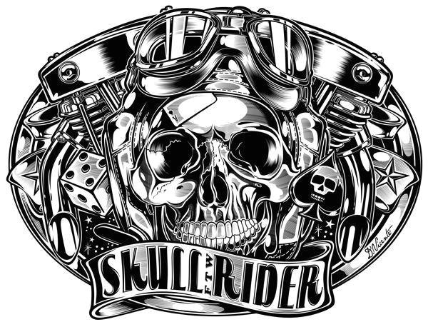 black white gallery by david vicente via behance biker tattoos skull tattoos