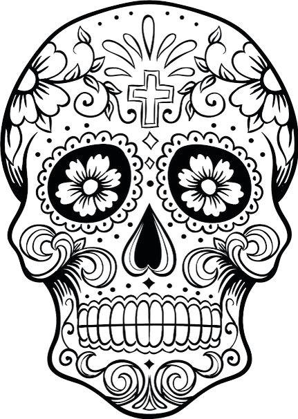 dia de los muertos colouring pages printable coloring pages sugar skulls sugar skull
