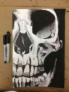 sharpie art lt 3 drawings of skulls drawings with sharpies skeleton drawings