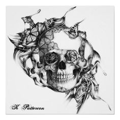 very neat abstract sugar skull idea for a tattoo skull tattoo flowers flower tattoos