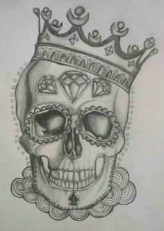 skull with crown for tat idea day of the dead tattoo designs day of the