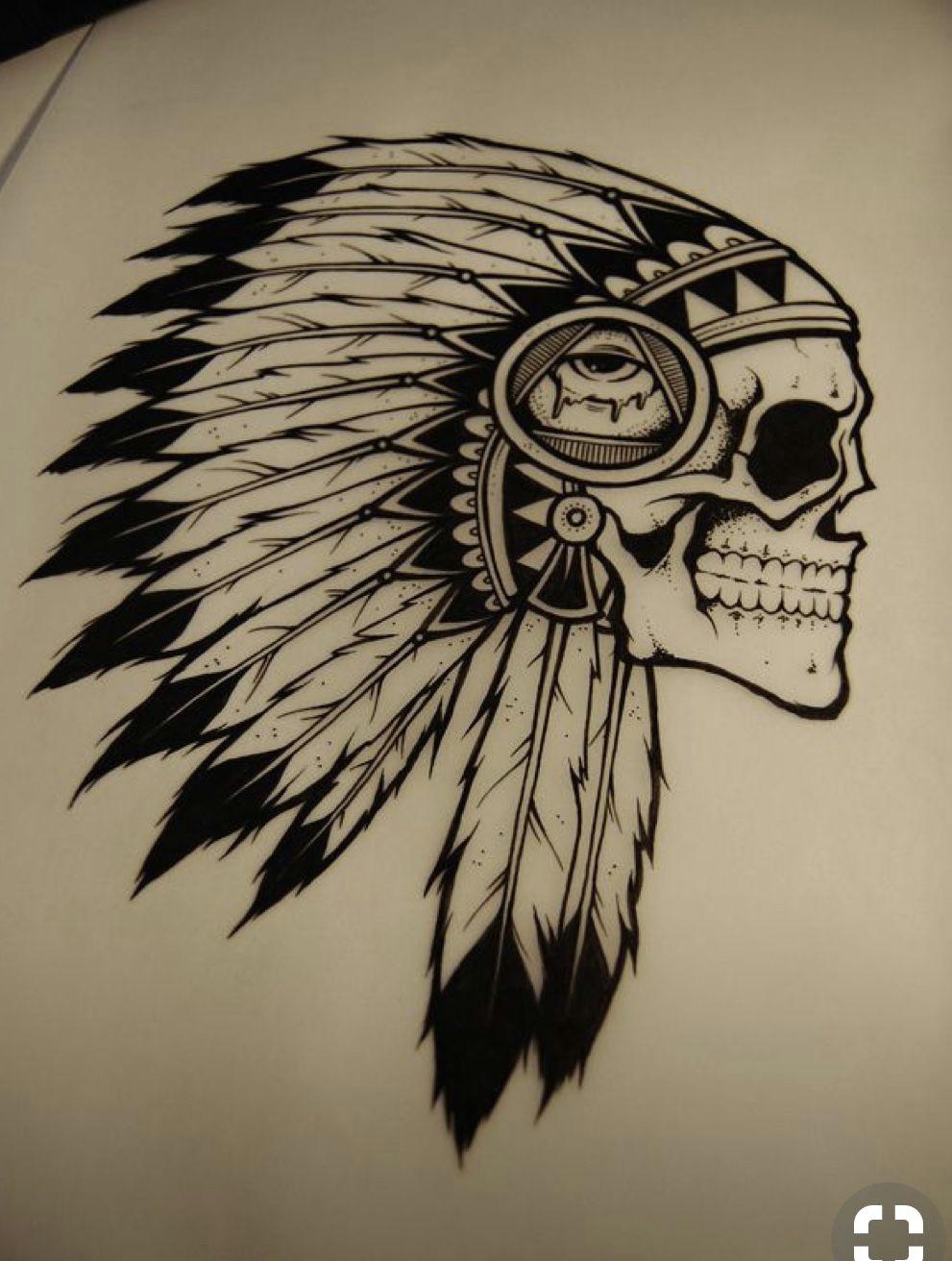 indian chief tattoo indian skull tattoos tattoo sketches tattoo drawings wolf drawings