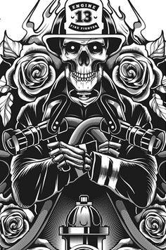 skull fire fighter e 13