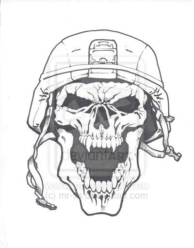 cool army drawings army skull by mr ss on deviantart