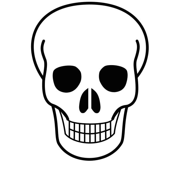 free printable pictures of skulls file skull icon svg wikimedia commons craft skull day of the dead drawings