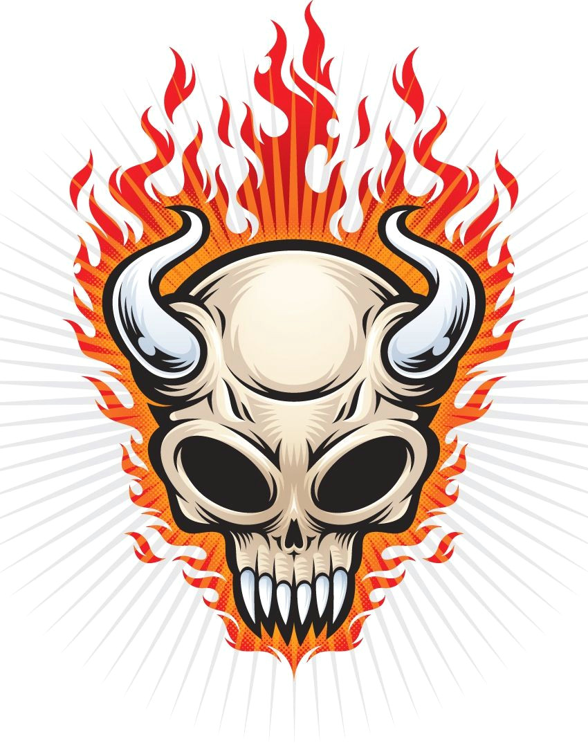 bull skull art