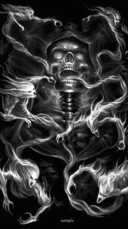 grim soulz gothic art skeletons santa muerte tattoo studio fire art