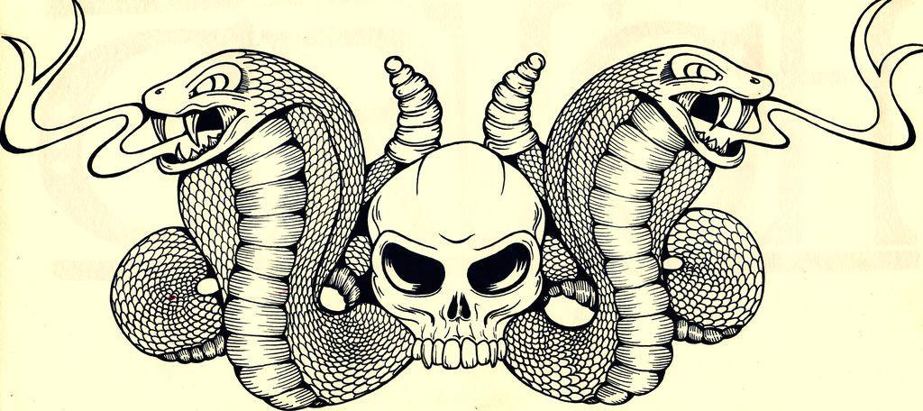 snakes skulls