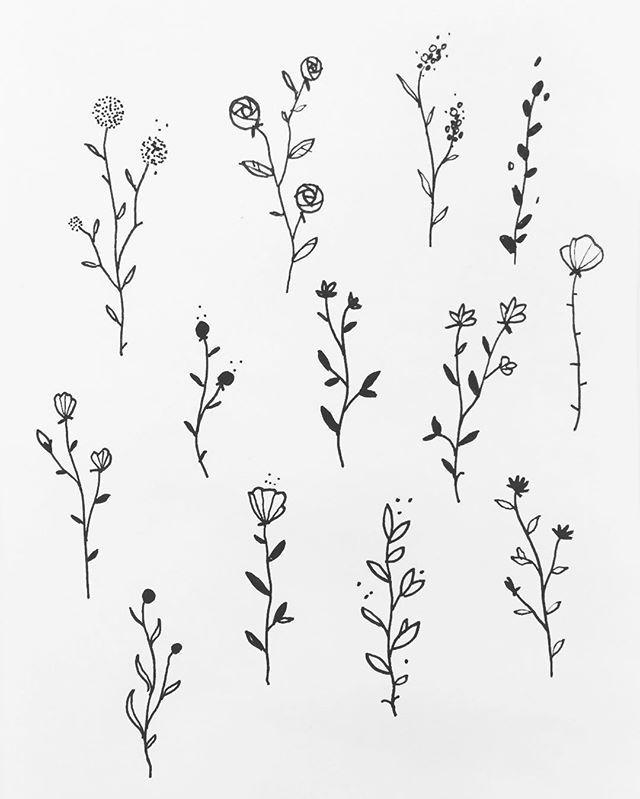 some floral designs