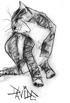 valerie davide barney animal paintings animal drawings cat drawing figure drawing charcoal