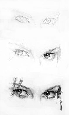 woman eyes proccess
