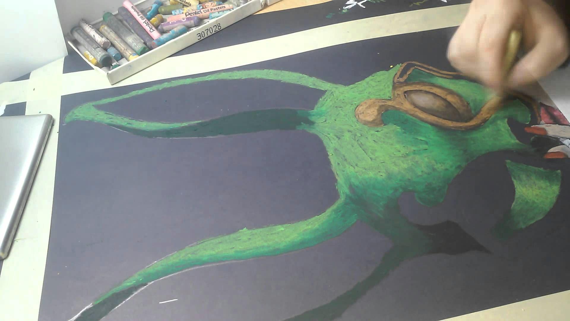 3 pastele olejne maskarada oil pastel masquerade speed drawing youtube