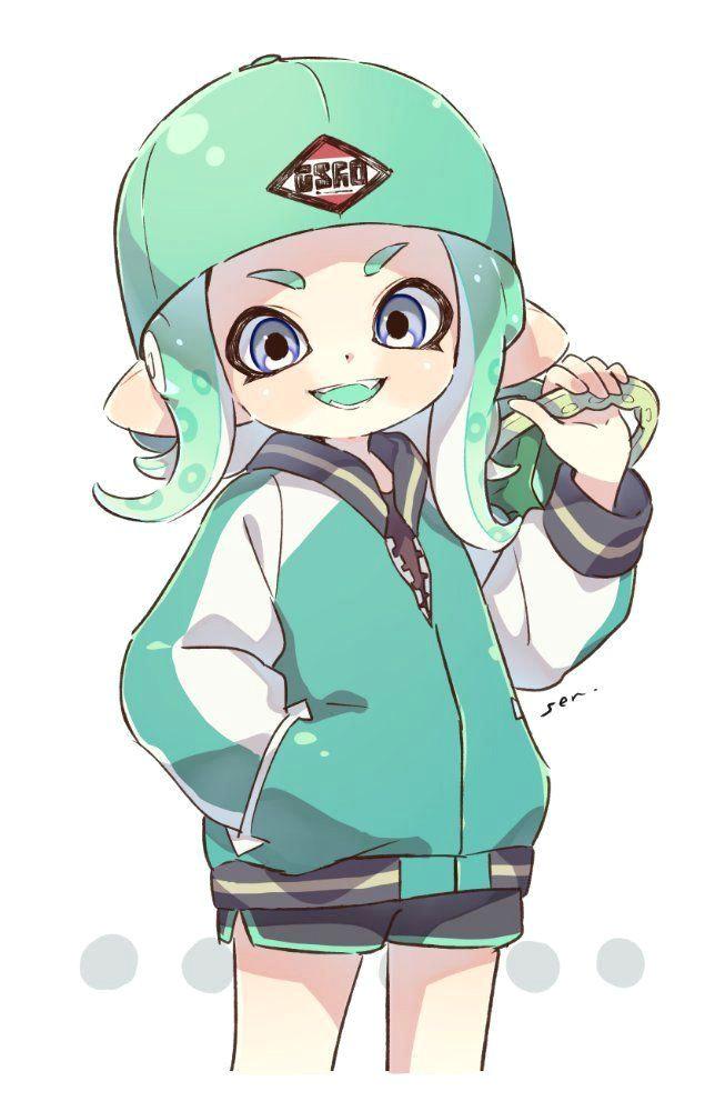tweet di a a sen squid twitter con splatoon 2 octoling trislosher videogamedesigner
