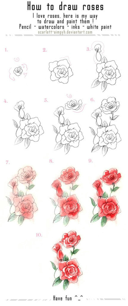how to draw a rose step by step for beginners elegant best coloring page adult od