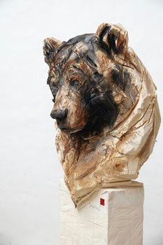 absolute art gallery jurgen lingl rebetez animal sculptures walking sticks art and