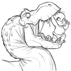 cartoon images cartoon drawings comic drawing t rex