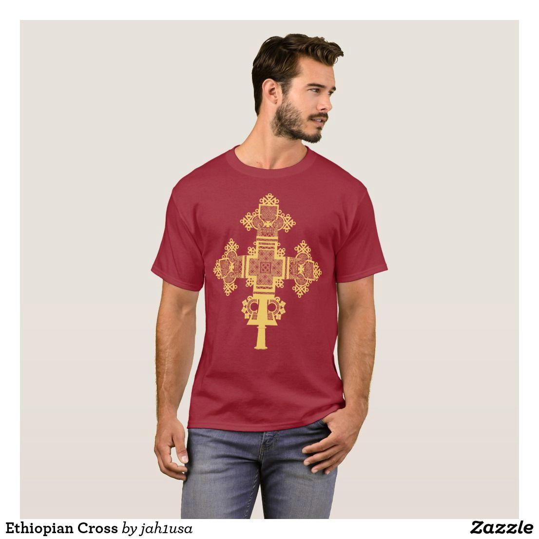 ethiopian cross t shirt