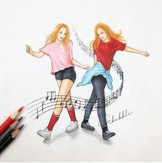 music amazing drawings bff drawings best friend drawings tumblr drawings friends forever