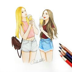 ice cream cool girl drawings bff drawings tumblr drawings amazing drawings beautiful