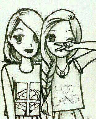 drawing of best friends cute best friend drawings best friends cartoon cartoon girls