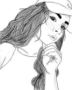 imagem relacionada girl drawings tumblr outline drawings tumblr girl drawing tumblr art