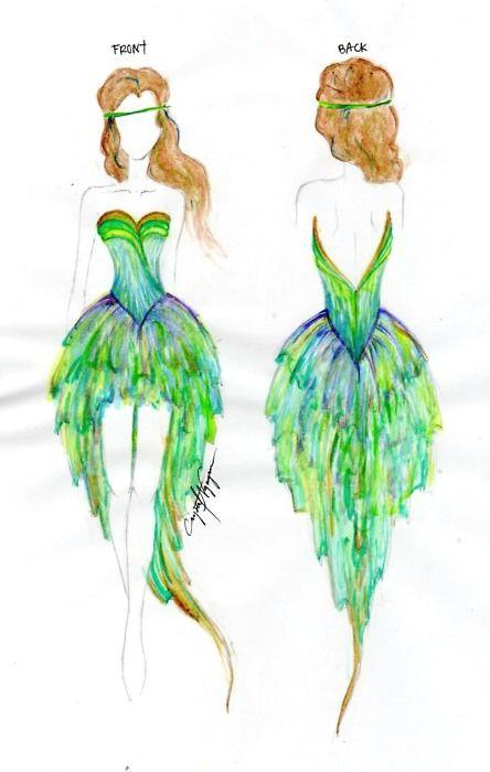 peacock dress tumblr