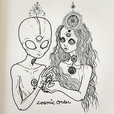 trippy aliens aliens ufo trippy shitsss drawing third third eye sketch