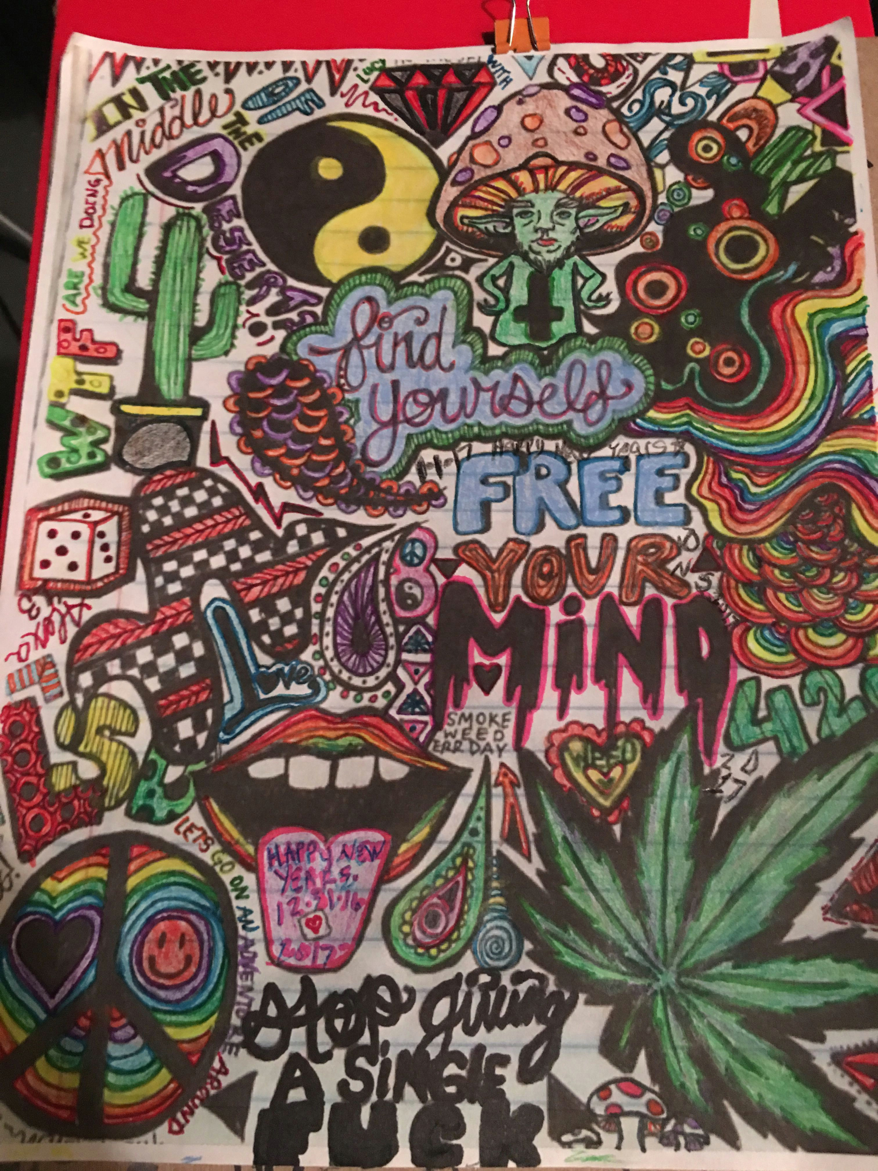 psychedelic drawings trippy drawings colorful drawings art drawings hippie drawing hippie