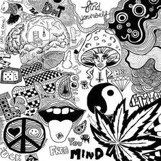 psychedelic drawings trippy drawings cool drawings pencil drawings drugs art doodle