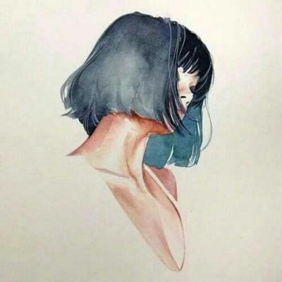 beautiful girl arte drawing girl hairstyle blue hair straight short hair bang fringe aesthetic paper adidas asian girl