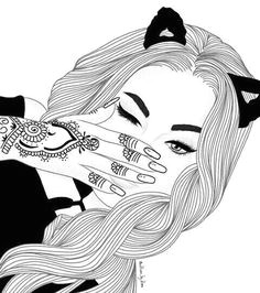 pinterest vandanabadlani cool girl drawings girly drawings drawing girls tumblr