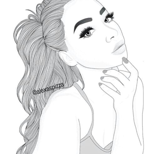 girl with high ponytail