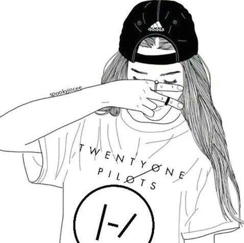 Tumblr Drawing Girl Nike Wallpaper Emo Aesthetic Tumblr Cute Love Girl Twenty One Pilots