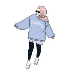 hijab drawing anime muslimah kawaii drawings art drawings hijab style character