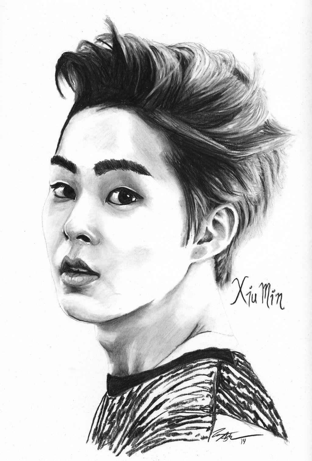 fan art by fallthrustardust tumblr me deviantart exo xiumin