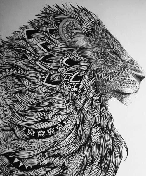 line work of lion no idea who the artist is but stunning art work tattoo idea