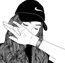 kao t quao ha nh ao nh cho easy black and white drawings tumblr hipster girl drawing be