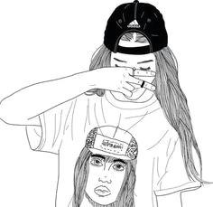 d d n n d d dod n n dµd d d a girl outline and drawinga line drawing tumblr cool