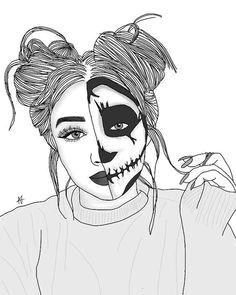tumblr girl drawing girl drawings tumblr sketches outline drawings tumblr art