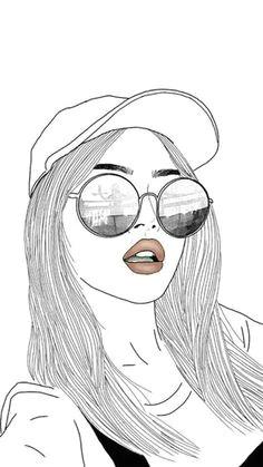 girl tumblr girl drawings hipster drawings tumblr girl drawing cute girl drawing