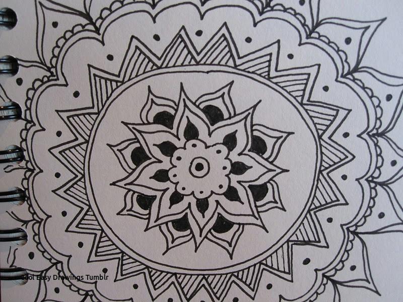 cool easy drawings tumblr drawing near mandalas