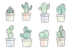 free watercolor cactus vector mas cactus watercolour cactus painting